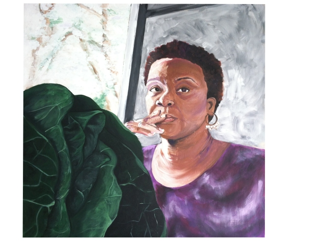 Self Portrait with Collards